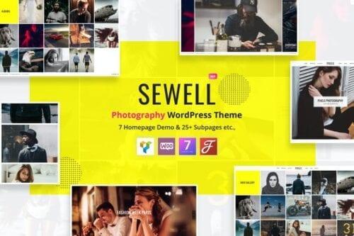 پوسته وردپرس عکاسی Sewell - Photography WordPress Theme