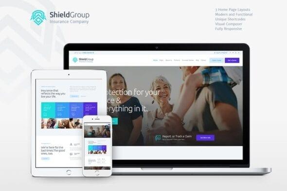 قالب وردپرس شرکتی ShieldGroup