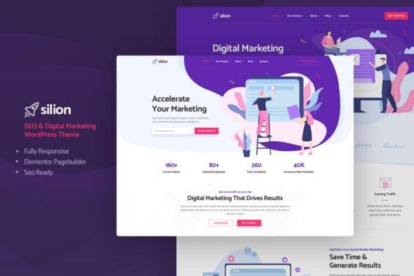 پوسته وردپرس دیجیتال مارکتینگ Silion - Digital Marketing WordPress Theme