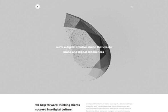 پوسته وردپرس نمونه کار Sima - Minimal Portfolio WordPress Theme