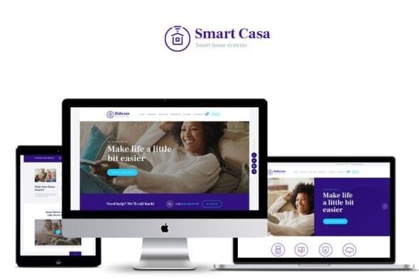 پوسته وردپرس خانه هوشمند Smart Casa - Home Automation & Technologies Theme