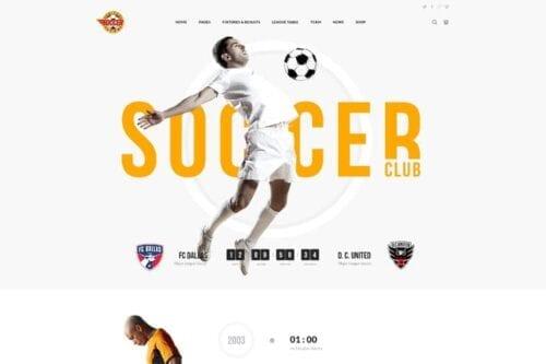 قالب وردپرس ورزشی Soccer Club - Football Team WordPress Theme