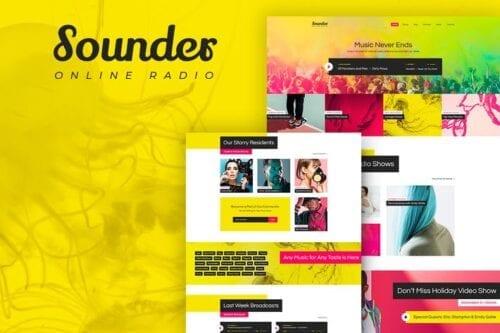 پوسته وردپرس رادیو آنلاین Sounder