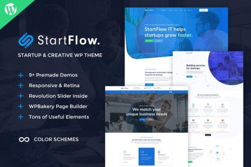 پوسته وردپرس چندمنظوره StartFlow - Creative Multipurpose WordPress Theme
