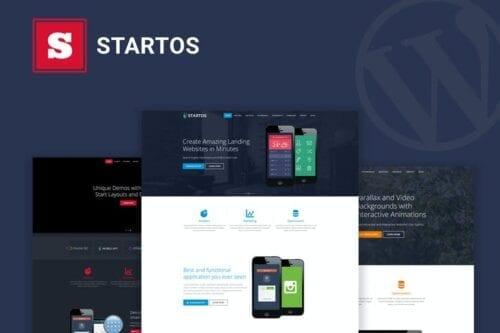 قالب وردپرس لندینگ پیج Startos - Modern App Landing Page WordPress Theme