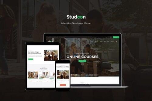 قالب وردپرس آموزشی Studeon