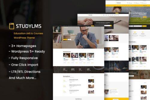 پوسته وردپرس آموزش آنلاین Studylms - Education LMS & Courses WordPress Theme