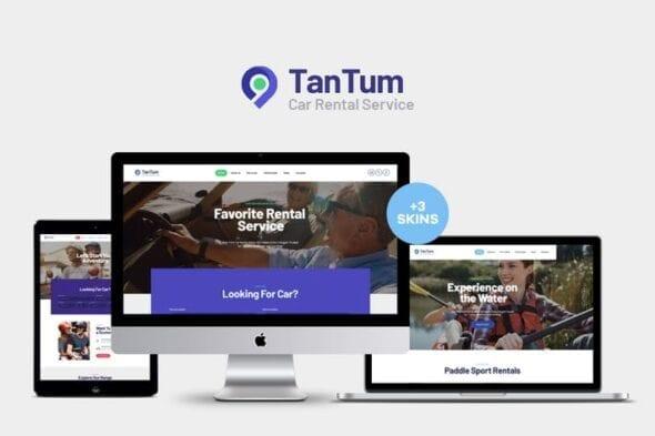 قالب وردپرس خدمات تفریحی TanTum