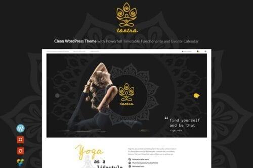 قالب وردپرس باشگاه ورزشی Tantra - A Yoga Studio and Fitness Club WP Theme