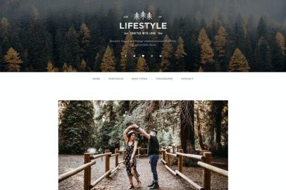 قالب وردپرس بلاگ و پورتفلیو The Lifestyle - WordPress Blog & Portfolio Theme