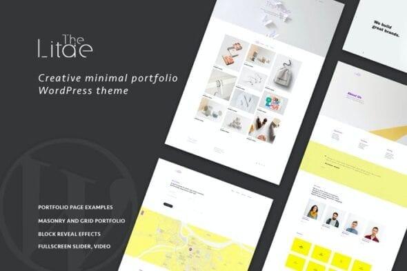 قالب وردپرس پورتفلیو The Litae - Minimal Portfolio WordPress Theme