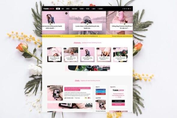 پوسته وردپرس خبری TianLock - Restrict Content Pro / Membership Theme