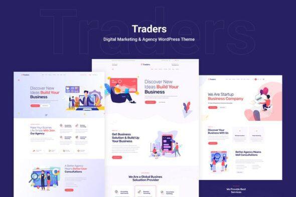 قالب وردپرس دیجیتال مارکتینگ Traders - Digital Marketing & Agency WordPress