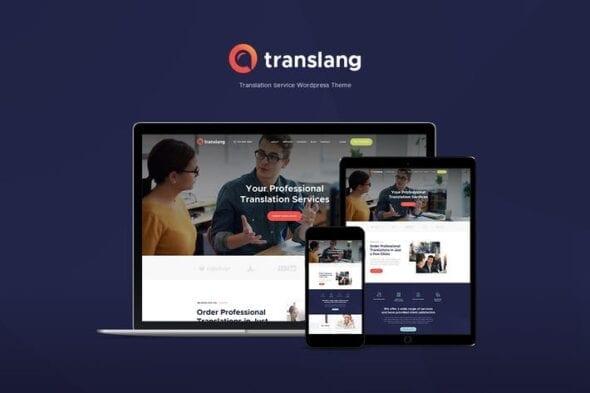 قالب وردپرس ترجمه آنلاین Translang