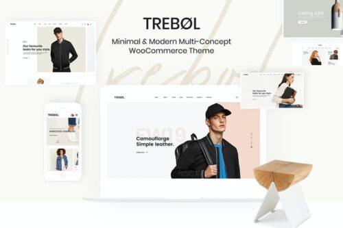 قالب وردپرس فروشگاهی Trebol - Minimal & Modern Multi-Concept WooCommer