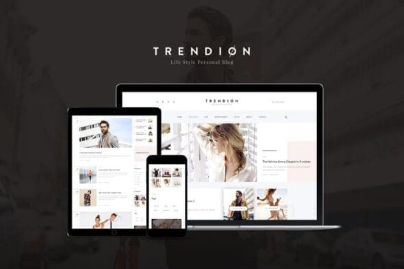 قالب وردپرس بلاگ شخصی Trendion