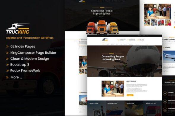 پوسته وردپرس لجستیک و حمل و نقل Trucking - Logistics and Transportation WordPress