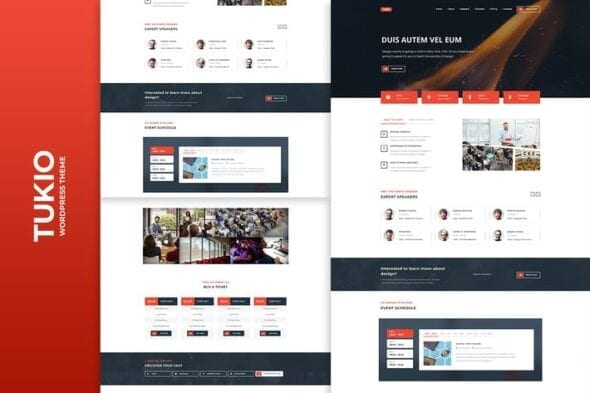 قالب وردپرس همایش و رویداد Tukio | Event Landing Page WordPress Theme