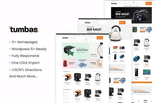پوسته وردپرس فروشگاهی Tumbas - Responsive WooCommerce WordPress Theme