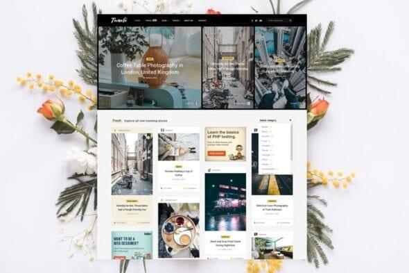 قالب وردپرس شخصی Tumli - Personal Masonry WordPress Theme
