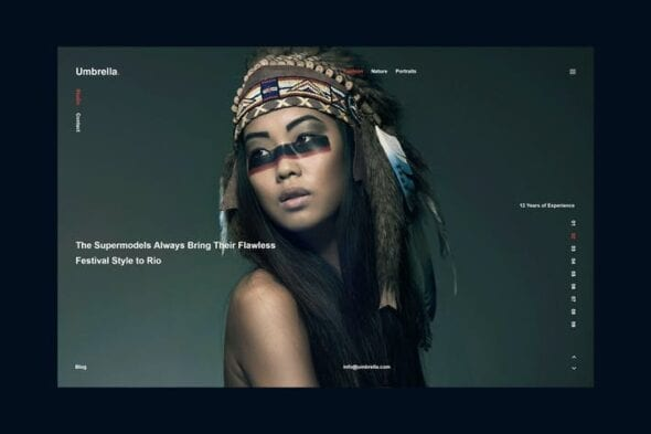 پوسته وردپرس عکاسی Umbrella - Photography WordPress Theme