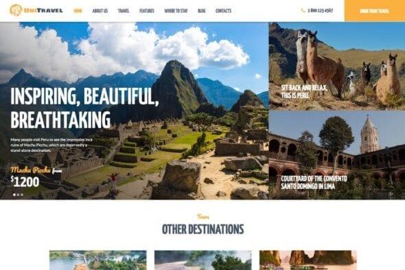 پوسته وردپرس آژانس مسافرتی UniTravel | Travel Agency & Tourism Bureau WP