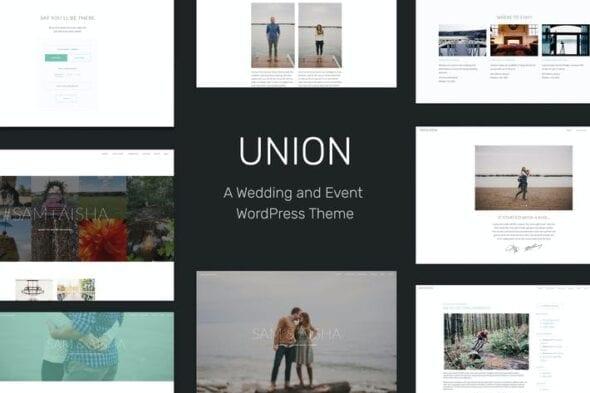 قالب وردپرس عروسی Union - Wedding and Event WordPress Theme