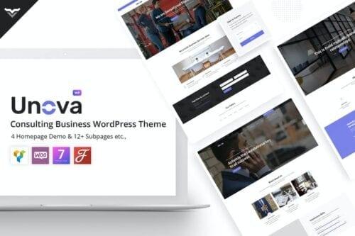 پوسته وردپرس مشاوره تجاری Unova - Consulting Business WordPress Theme