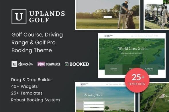 پوسته وردپرس گلف Uplands - Golf Course WordPress Theme