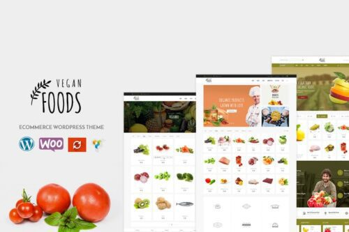 قالب وردپرس محصولات ارگانیک Vegan - Organic Store WooCommerce WordPress Theme