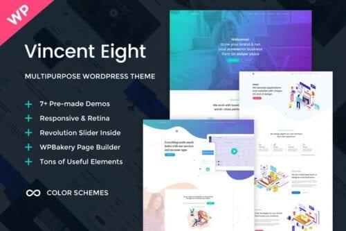 قالب وردپرس چندمنظوره Vincent Eight - Multipurpose WordPress Theme