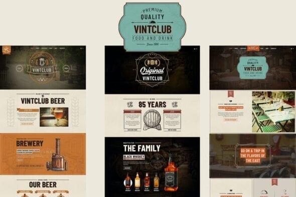 پوسته وردپرس تجاری VintClub - A Pub and Whisky Bar WordPress Theme