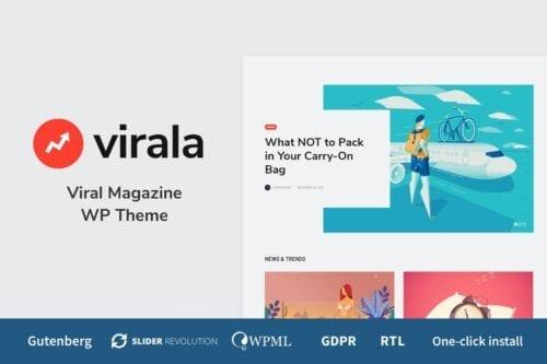 قالب وردپرس مجله Virala - Viral Magazine WordPress Theme