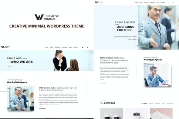 پوسته وردپرس چندمنظوره WON Creative Minimal WordPress Theme
