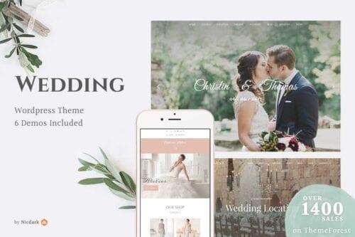 پوسته وردپرس عروسی و ازدواج Wedding WordPress Theme