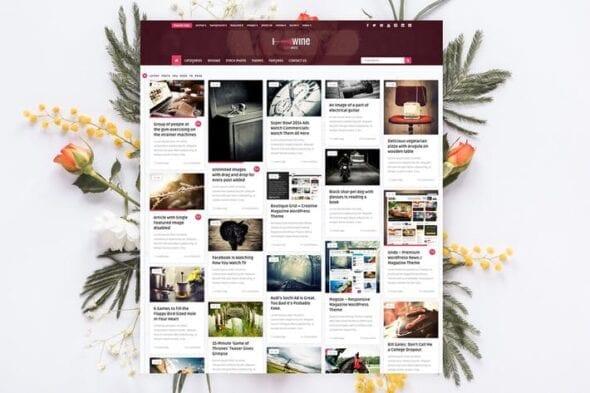 قالب وردپرس بلاگ Wine Personal - Creative Blog / News Theme