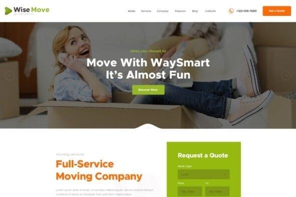 پوسته وردپرس خدمات بسته بندی و اسباب کشی Wise Move | Relocation and Storage Services
