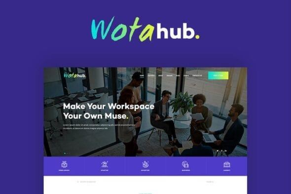 قالب وردپرس شرکتی WotaHub
