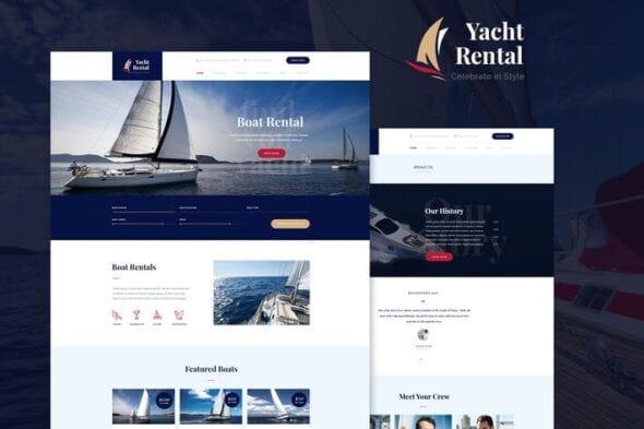 قالب وردپرس اجاره Yacht Rental