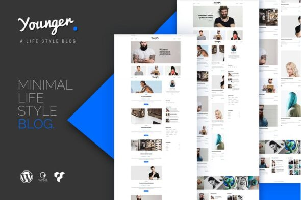 قالب وردپرس بلاگ شخصی Younger Blogger - Personal Blog WordPress Theme
