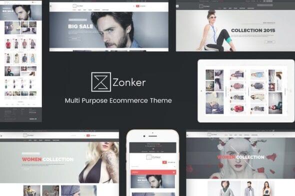 پوسته وردپرس فروشگاهی Zonker - WooCommerce WordPress Theme
