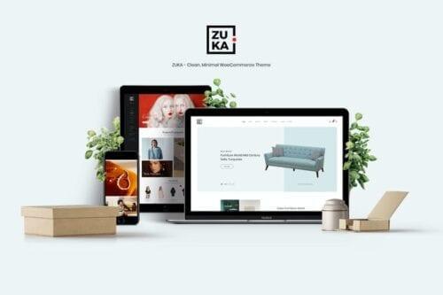 قالب وردپرس فروشگاهی Zuka - Clean, Minimal WooCommerce Theme