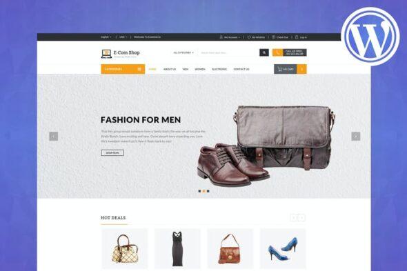 قالب وردپرس فروشگاهی ریسپانسیو eCom - Responsive WooCommerce WordPress Theme