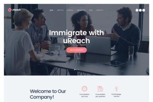 پوسته وردپرس مشاوره مهاجرت uReach | Immigration & Relocation Law Consulting