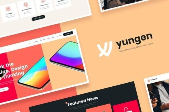 پوسته وردپرس تجارت و بازاریابی Yungen