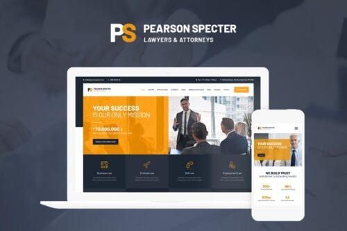 قالب وردپرس حقوقی Pearson Specter