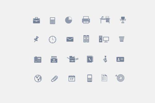 طرح لایه باز ست آیکون دفترکار 24 Office Icons