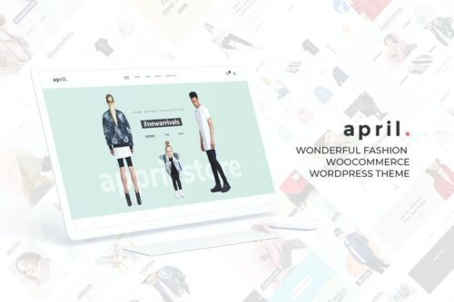 قالب وردپرس مد و فشن APRIL - Wonderful Fashion WooCommerce WordPress Th