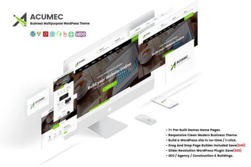پوسته وردپرس تجاری Acumec - Business Multipurpose WordPress Theme