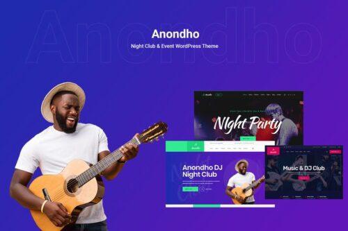 پوسته وردپرس کلوب موسیقی Anondho - Night Club & Event WooCommerce WordPress